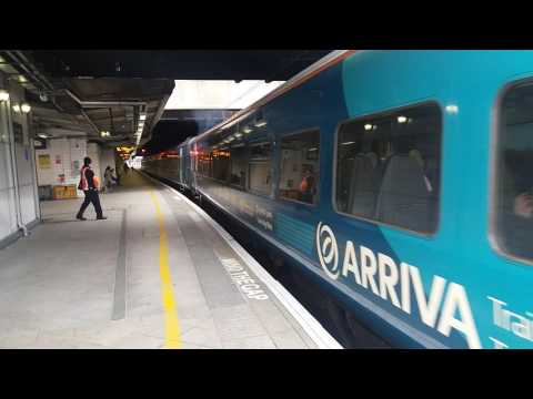 Arriva Trains Wales departure from Birmingham New Street