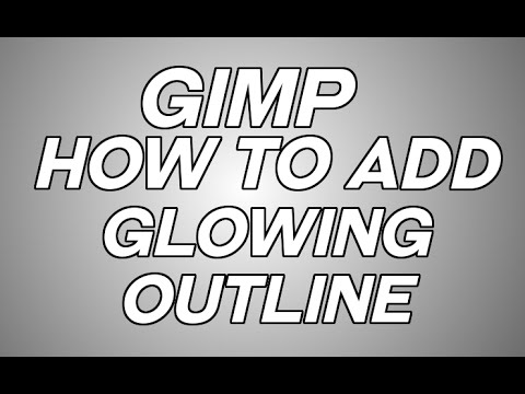 GIMP:How to Add Glowing Outline to Images & Text