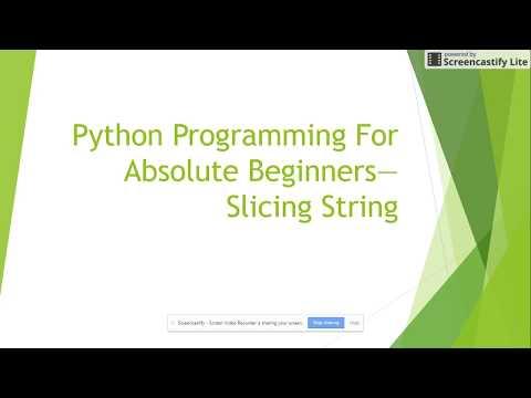 Python Programming Tutorial   Slicing String Class 5