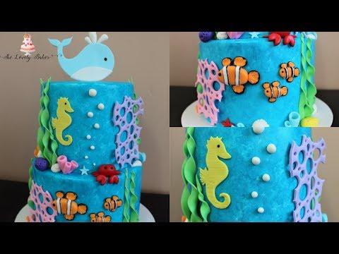 Under The Sea Cake Tutorial!