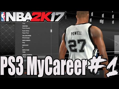 NBA 2K17 - PS3 MYCAREER #1 - Player Creation + Rookie Showcase!