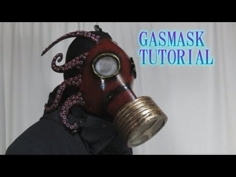 Gasmask tutorial - Octpus? Cthulhu? [How to make props]