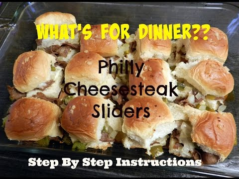Whats For Dinner- DIY Philly Cheese Steak Sliders