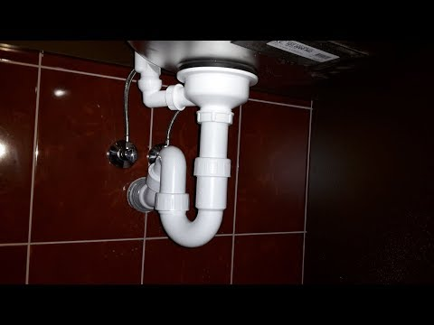 How To Install Drain Pipes On a Kitchen Sink