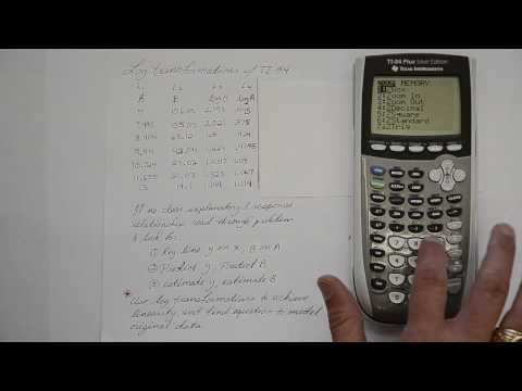 Log Transformations with TI-84