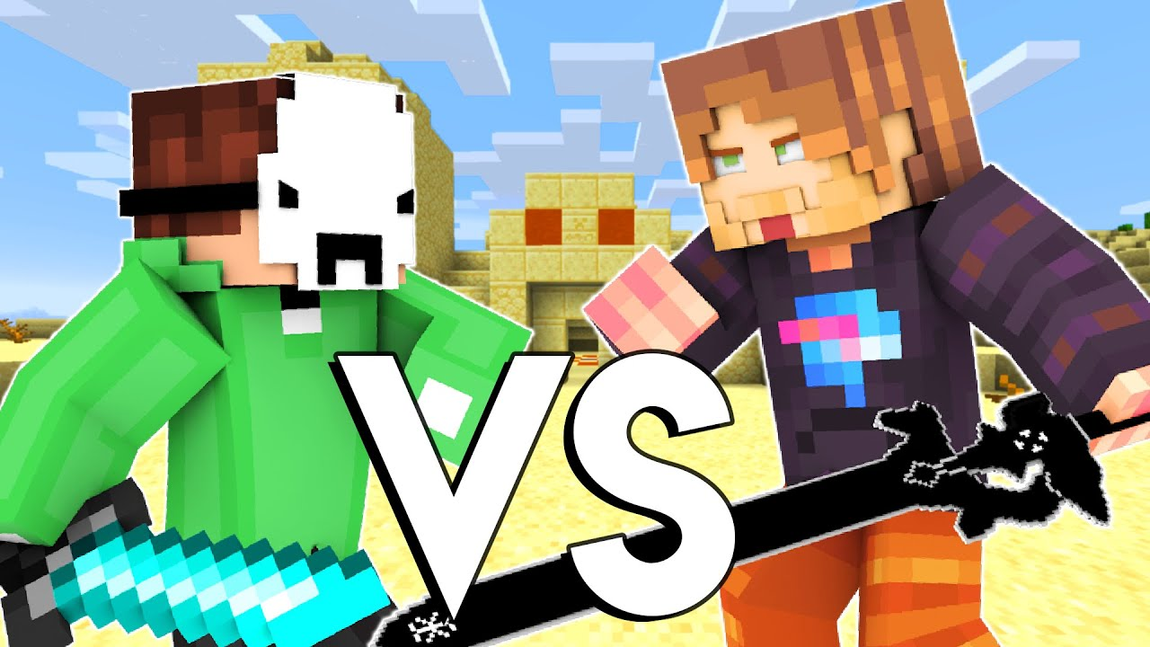 Dream VS MrBeast - Minecraft FIGHT Animation