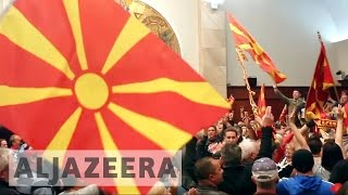 Macedonia nationalists violently storm parliament