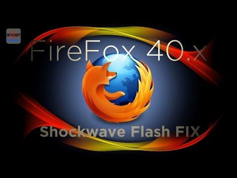 Firefox 40 Shockwave Flash Problems Fix