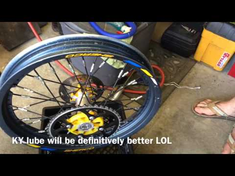 Tubeless Rear  tire replacement Trial bike