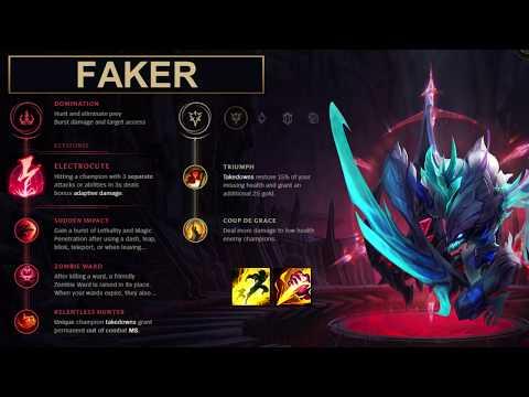 SKT Faker Build Kha'Zix - New Runes Season 8 (League of Legends Guide)