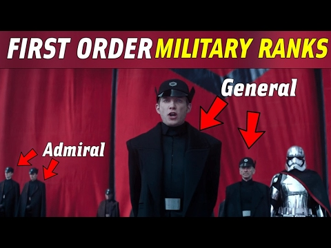 All First Order Ranks and Insignias