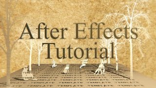 After Effects | Tutorial | Pop-up Book Animation | No Plug-ins Needed 100% Ae