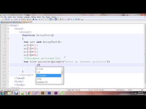 Javascript - Create Simple Dynamic Array   Run time array function Tutorial video