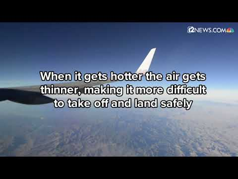 How extreme heat affects air travel