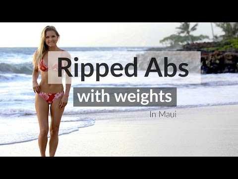 How to Get Ripped Abs with Weights | Rebecca Louise