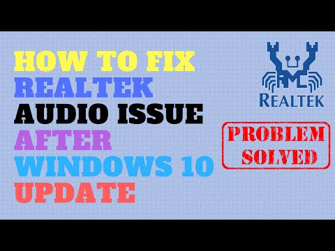 How to Fix Realtek Audio Issue After Windows 10 Update