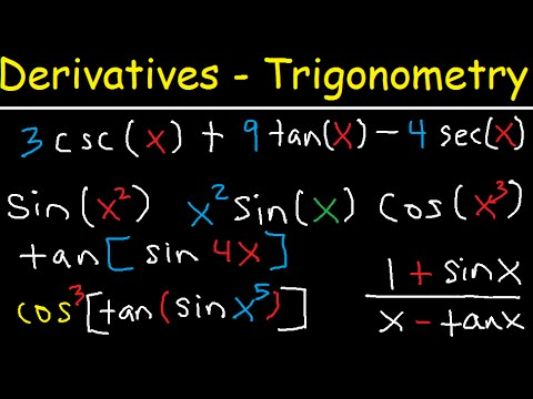 Derivatives of Trigonometric Functions - Product Rule Quotient & Chain Rule - Calculus Tutorial