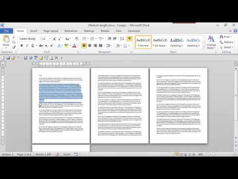 How to Make Columns That Run Onto the Next Page : MS Word Skills