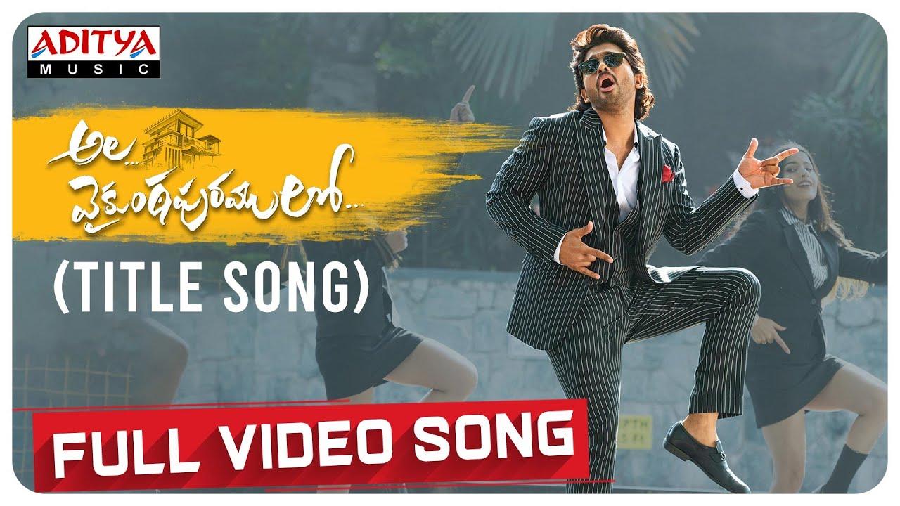 Download #AlaVaikunthapurramloo (Title Song) Full Video   Allu Arjun   Trivikram   Thaman S   #AA19 MP3 Gratis