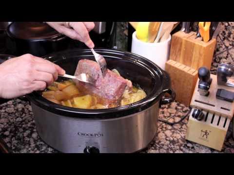 Crock Pot Corned Beef Preparation
