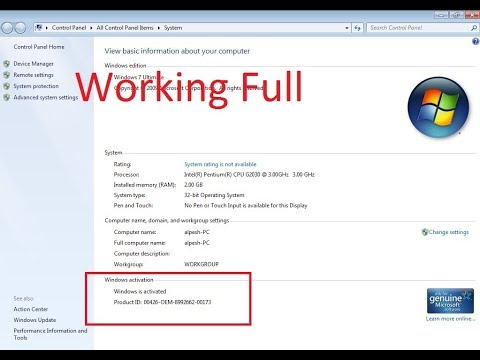 How To Activate Windows 7 Ultimate  Product Key FULL