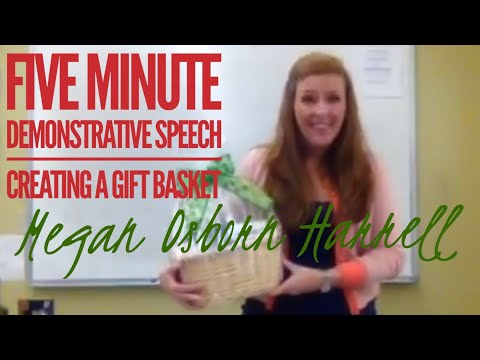 Five Minute Demonstrative Speech