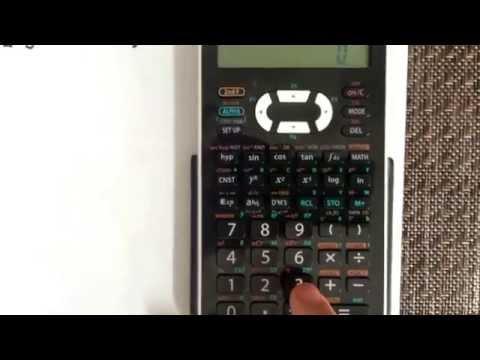 Permutation using the calculator Sharp EL-520X