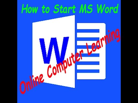 How to open MS Word || My Home Teacher