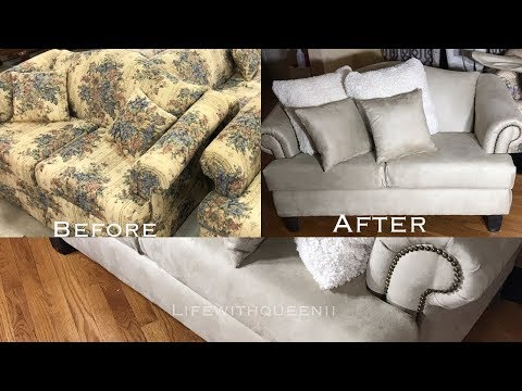 HOW TO REUPHOLSTER A COUCH /SOFA Part 2 - LifeWithQueenii