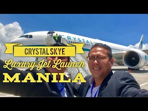 Crystal Skye Boeing 777-200LR World's Largest Luxury Private Jet Launch Manila Marriott Hotel