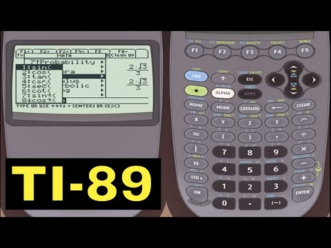 TI-89 Calculator - Sin, Cos, Tan with the TI-89 Calculator