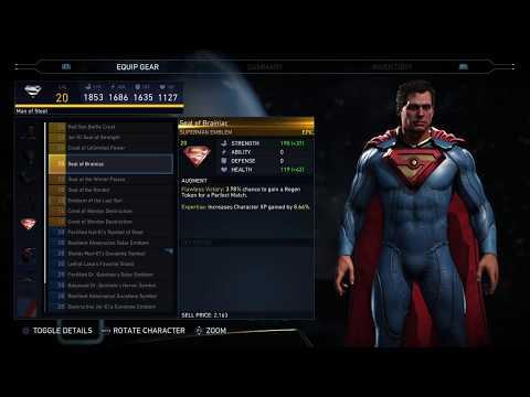 Injustice 2 - Superman EPIC Gear +BIZZARO