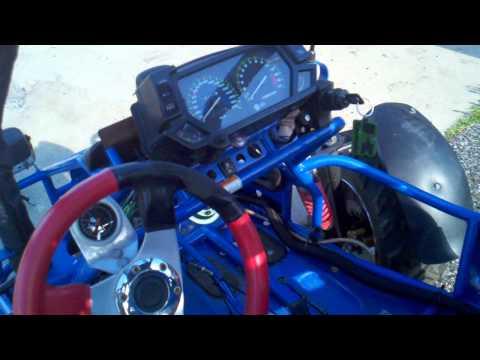 Offroad gokart with Kawasaki 750 Ninja motor