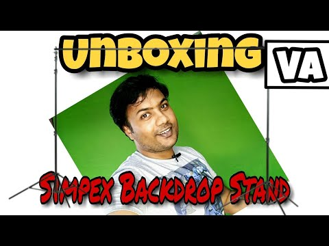 Unboxing Background Stand (Backdrop Stand) for Photos & Videos