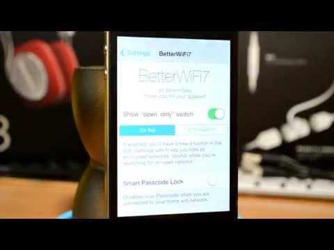 iOS 7 Cydia Tweak - BetterWifi7 - Ultimate WIFI Tweak!