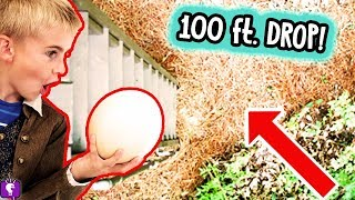 Download Giant ROTTEN Ostrich Egg Drop From 100 Ft! Watermelon Drop Challenge with HobbyKidsTV Video