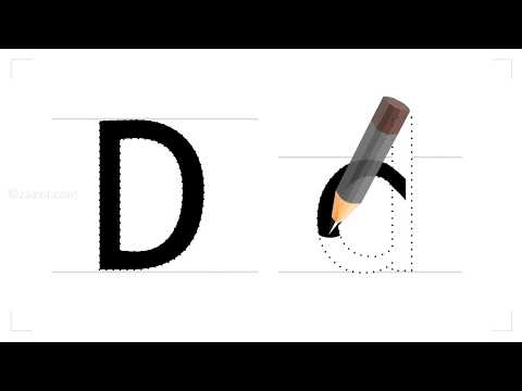 How to write the english letter D?