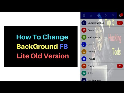 How To Change Background FB Lite