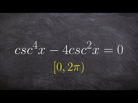 Learn how to factor and solve a trigonometric equation