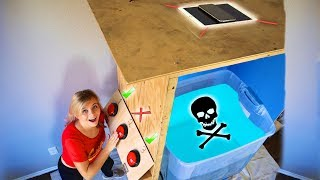 DONT ACTIVATE The WRONG MYSTERY BUTTON! Intense Trap Door Challenge *SURPRISE EXPENSIVE ITEM*