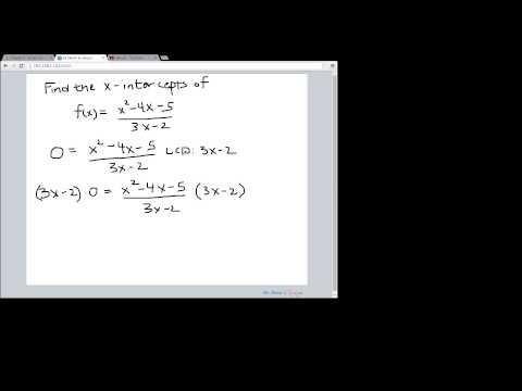 Finding the x-intercepts of a rational function