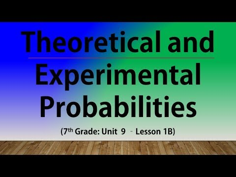 Theoretical and Experimental Probabilities (7th Grade Unit 9 Lesson 1B)