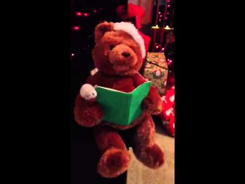 My talking Christmas Teddy Bear from Hunnie!