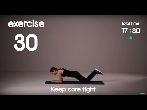 Upper Body Strength and Core Workout for Home - HIIT for Beginners - 30s/30s