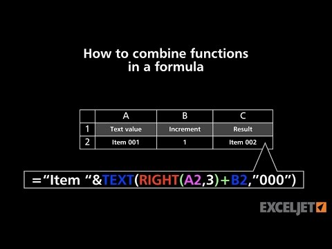 How to combine functions in a formula