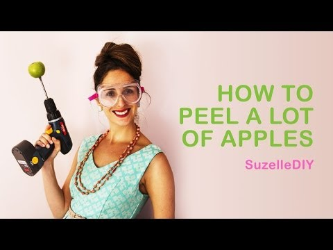 How To Peel a Lot of Apples