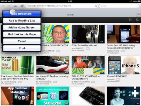 How to Add a BookMark on Safari on iPad 1,2,3