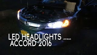 Honda Accord 2016 Led Headlights Opt7 Hid Compared