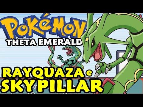 Pokémon Theta Emerald (Detonado - Parte 30) - Rayquaza e Puzzle Sky Pillar