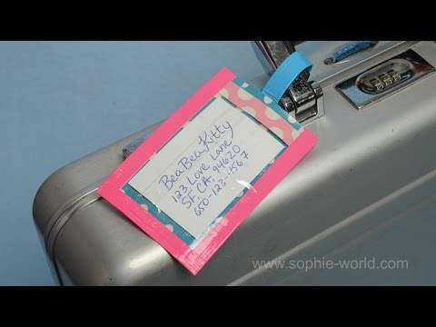 How to make a duct tape luggage tag | Sophie's World